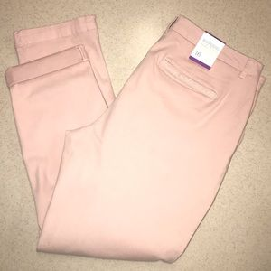 Style & Co Boyfriend Mid Rose Jeans Natural Blush